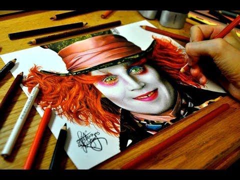 [色鉛筆画]マッドハッターを描く工程が衝撃!