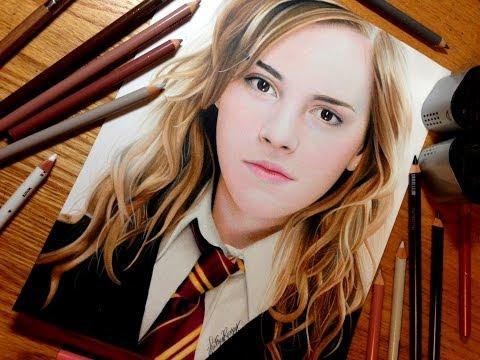 [色鉛筆画]これは、絵?写真?ハーマイオニー・グレンジャーが色鉛筆で描かれる!