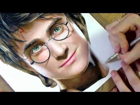 [色鉛筆画]ハリー・ポッターの色鉛筆画がヤバイ!これって写真?